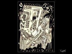 Indian ink on paper 21 X 29 cm ®Carlos Chá