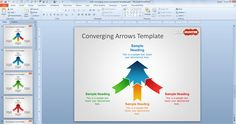 Free Converging Arrows PowerPoint Template - Free PowerPoint Templates - SlideHunter.com | Free Business PowerPoint Templates | Scoop.it