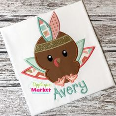 Bring in the season with Applique Market's great selection of special designs. The Thanksgiving Season is a great time of year for customized clothing with our Turkey Feathers applique design.