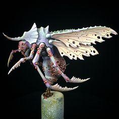 Nurgle Plague Drone, Games Workshop. 2015. Warhammer 40k Figures, Warhammer Fantasy, Warhammer 40000, Space Marine Dreadnought, Sci Fi Miniatures, Miniture Things, Minis, Tabletop, Modeling
