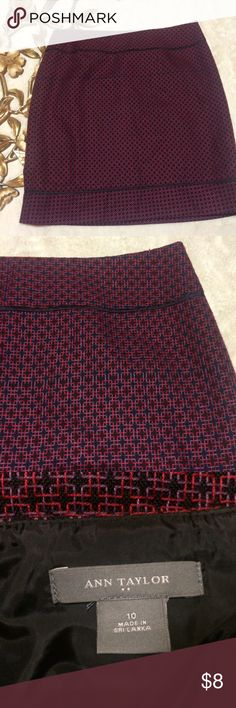 """Ann Taylor Skirt Size 10 Ann Taylor Skirt Size 10 measurements taken laying flat: 16"""" waist 20-1/2"""" length 20-1/2"""" hip **some of the stitching has come off please refer to 2 pic Ann Taylor Skirts Midi"""