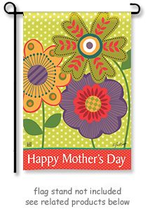 """Mother's Day Garden Flag by artist Leslee Elliott for Breeze Art. Garden size mini flag is 12.5"""" Wide x 18"""" Long.  ** Free shipping to anywhere in the USA **  @justforfunflags"""