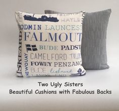 This item is unavailable St Ives, Bude, Being Ugly, Home Accessories, Sisters, Cushions, Falmouth, Throw Pillows, Cornwall