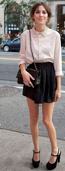 The always fashionable Alexa Chung
