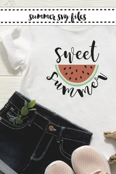 Make yourself an adorable Summer sign or shirt with these darling SVG files from Everyday Party Magazine #EverydayPartyMagazineShop #ShopEPM #Summer #Watermelon #Popsicle