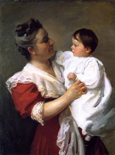 Cecilia Beaux . Mrs. Stedman Buttrick And Son John