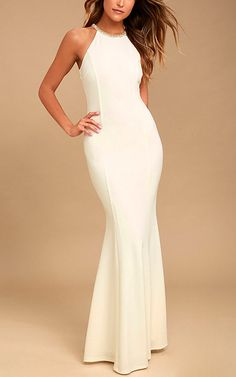 You're going to love what you see when you slip on the Girl in the Mirror White Beaded Maxi Dress! A high neckline adorned in beads tops this sleeveless maxi dress. Best Maxi Dresses, Backless Maxi Dresses, White Maxi Dresses, Women's Fashion Dresses, White Dress, Grey Maxi, Club Dresses, Party Dresses, Bodycon Dress