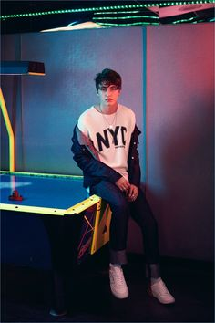 Hilfiger Denim enlists Anwar Hadid as the star of its spring-summer 2017 campaign.