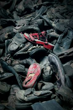Shoe's of some of the children's who died in auschwitz ( foto made by me)