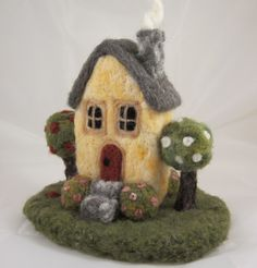 Needle felted cottage from Nature's Adornments