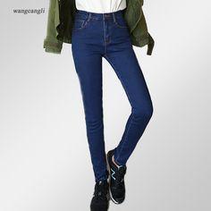 women jeans large size black blue plus velvet mid waist slim jeans fat sister sexy stretch cowboy cotton tight pants XL 5XL