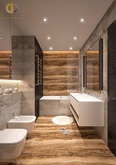 Дизайн интерьера ванной в трёхкомнатной квартире 106 кв.м в стиле хай-тек Living Room Designs, Bathtub, Bathroom, Architecture, Interior, Projects, Home Decor, Quotes, Ideas