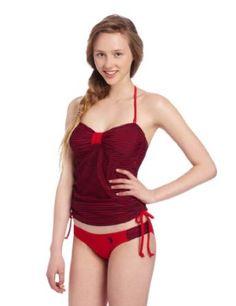 caf161b498e U.S. Polo Assn. Juniors Mini Stripe Print Tankini  31.99 Tankini Swimsuits  For Women