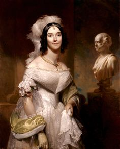 This oil on canvas painting of Angelica Singleton Van Buren was completed by Henry Inman in 1842. White House Collection/White House Historical Association