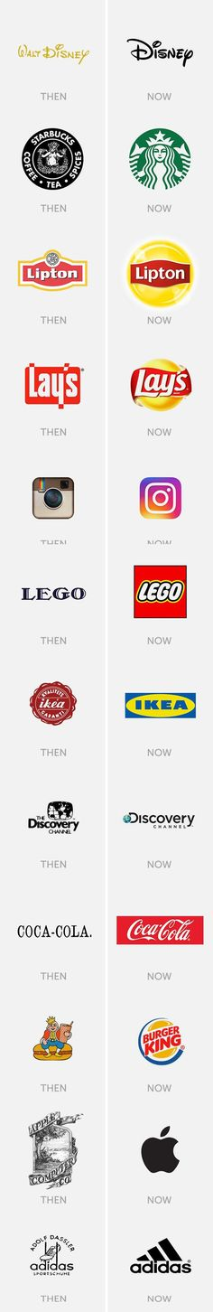 Famous logos then and now - 9GAG