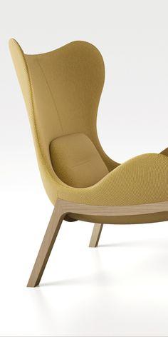 Calligaris - Lazy chair - Un fauteuil indémodable qui se distingue par ses courbes accueillantes et son grand dossier sinueux qui crée une coquille à l'intérieur de laquelle on se sent protégé et à l'abri des regards. St.James