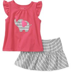 Child of Mine by Carters Newborn Girl Tank and Skirt Set: Baby Clothing : Walmart.com