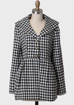 London Bound Houndstooth Coat By Tulle