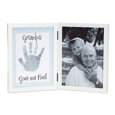 Grandpa Give Me Five Frame 5x7 White/Blue -----Could EASILY do this with dollar store frames!------