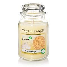 http://www.kitchendesignplanner.com/category/Yankee-Candle/ Girl Scouts® Lemon & Sugar : Large Jar Candles : Yankee Candle ... Buttery shortbread with a zesty lemon twist and a dusting of powdered sugar...irresistibly sweet!