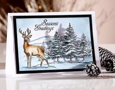 We offer a wide range of papercraft and needlecraft products as well as expert tutorials for both the budding creative and the experienced crafter alike Christmas Card Crafts, Christmas Cards To Make, Christmas Deer, Xmas Cards, Handmade Christmas, Crafters Companion Christmas Cards, Sheena Douglass, Frantic Stamper, Winter Cards