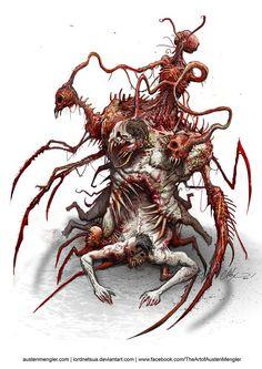 ArtStation - The Conductor, Austen Mengler Monster Concept Art, Monster Art, Fantasy Kunst, Dark Fantasy Art, Creature Concept Art, Creature Design, Arte Horror, Horror Art, Lovecraftian Horror