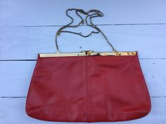 Vintage Soft Red Leather Etra Purse by BeCreative2 on Etsy