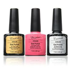 G-Beauty : Choose 1 color gel 1 base gel 1 top coat From New 47 Color Gel Polish Nail Art 7.3ml 0.25fl oz 3 in 1 gel polish >>> Check out this great product.