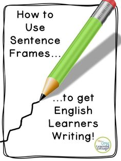 Using Sentence Frames to Get ELL Students Writing Using sentence frames in a practical way to help your ELL or ENL students begin to master writing in a manner that will leave them feeling empowered! Ell Strategies, Teaching Strategies, Teaching Ideas, Teaching Methods, Teaching Writing, Teaching English, Kindergarten Writing, Esl Writing Activities, Esl Learning