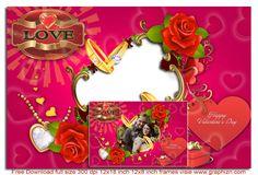 Happy Valentine Beautiful Pink Frame