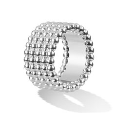 Van Cleef & Arpels - Perlée ring, 5 rows, white gold