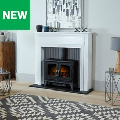 This electric fire features an led flame effect which instantly adds an inviting warming glow to the room. Electric Fires, Electric Stove, Fireplace Suites, White Led Lights, Hearth, Grey And White, Florence, Home Accessories, Lounge