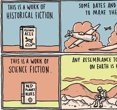 Different kinds of fiction and what makes them fiction