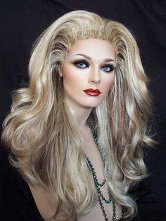 Astonishing Rooted Blonde Drag Wig. So gorgeous we don't want to sell it.   http://www.dragwigs.com/EBDR270941551843.html