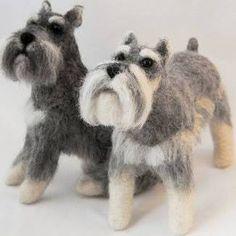 felted schnauzer dog - Google Search