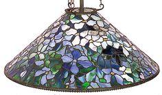 "Tiffany Studios ""Clematis"" hanging shade."