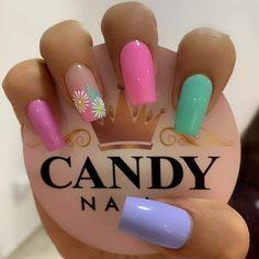 Bella Nails, My Nails, Precious Nails, Floral Nail Art, Nail Arts, Ale, Nail Designs, Nail Polish, Makeup
