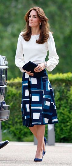 Yes! Skirts. It doesn't have to be dressy like this one, but longer skirts are making a huge comeback, so embrace it. Photo: Max Mumby/Indigo/Getty Images