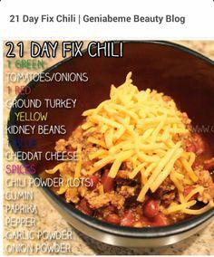 21 Day fix chili