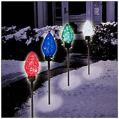 Would look pretty along driveway or walkway. LED Morphing Path-Markers, 5-Pack at Big Lots. #BigLots