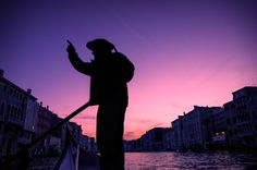 Gondolier in Venice, Italy. Photo by Luke Yamnitz.