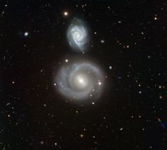 Galaxies NGC 799 and NGC 800 located in the constellation of Cetus js