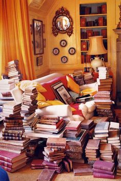 """The best decoration in the world is a room full of books. This is what my room looks like :P My Living Room, My Room, Pile Of Books, Home Libraries, Tim Walker, Design Blog, Set Design, Book Nooks, Reading Nooks"