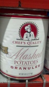 Chef's Quality: Mashed Potatoes Granules. http://affordablegrocery.com
