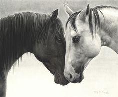 Mary Ross Buchholz, Ranch Romance, charcoal/graphite, 16 x - Southwest Art Magazine All The Pretty Horses, Beautiful Horses, Westerns, Cowboy Art, Horse Drawings, Southwest Art, Horse Pictures, Horse Photos, American Indian Art