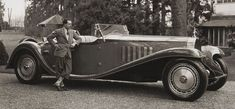Bugatti Royale Typ 41 roadster (1932) commissioned by Belgian born, French textile industrialist Armand Esders. Jean Bugatti designed a stunning 6.5m, two-seater roadster