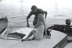 Willy Rizzo et B.B à Saint-Tropez, 1958