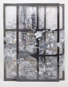 Felipe Talo, Two rocks and a sparkle of fire, 2015, mixed media on plastic and wooden stretcher