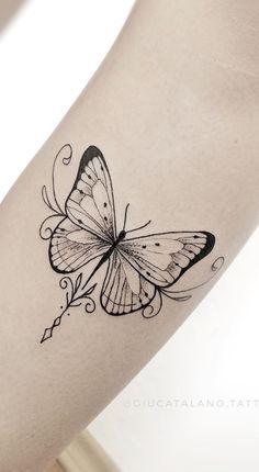 Dope Tattoos, Pretty Tattoos, Mini Tattoos, Body Art Tattoos, Small Tattoos, Tatoos, Butterfly Tattoos On Arm, Butterfly Tattoo Designs, Tattoo Designs For Women