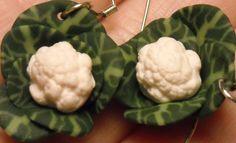 Head of Cauliflower earrings Original 100 by CobaltMoonJewelry, $12.95
